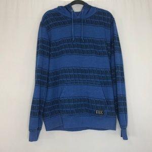 Hurley Blue & Black Hoodie Sweatshirt Men's Size L